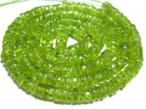 RADE-9198 5mm Code: Stones Measure 16Strand LOVEKUSH 50/% Off Gemstone Jewellery Peridot Smooth Flat Round Heishi