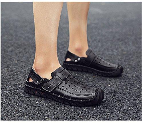 scarpe da NANXIE pantofole chiuse estate black uomo atletica sandali yqOcB8Sc
