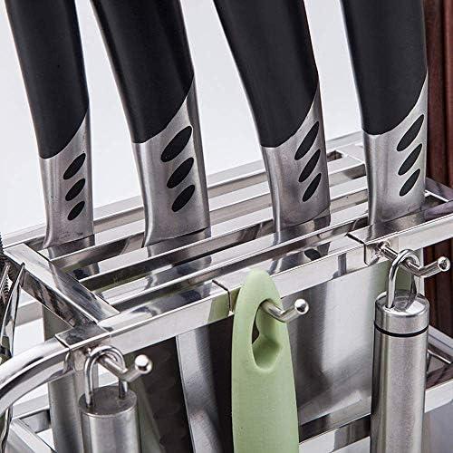WJ Schöne Küchen - Regal-Edelstahl-Messer-Halter-Messer-Halter Küche Rack Schneidebrett Rack-Storage Rack Utensilien Supplies Stäbchen Messer Schneidebrett Rack-Silber