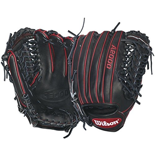 Wilson A2000 Gio Gonzalez Game Model Baseball Glove, Black/Red, Right Hand Thrower