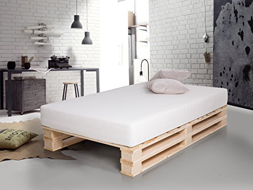 Paletti Massivholzbett Duo Holzbett Palettenbett Bett Aus Paletten Mit 11 Leisten 90 X 200 Cm Fichte Natur