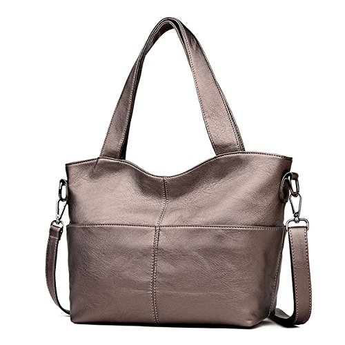 Hobo Bronze - Genuine Leather Hobo Bags for Women - Crossbody Top Handle Bag Ladies Tote Purse One Shoulder (Bronze)