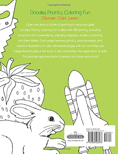 Workbook consonant trigraphs worksheets : Doodles Phonics Coloring Fun (Doodles Coloring Fun): Setria James ...
