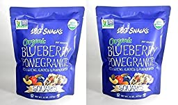 180° Snacks Organic Blueberry Pomegranate with Cashews, Almonds & Pumpkin Seeds Squares 15 oz (Pack of 2)