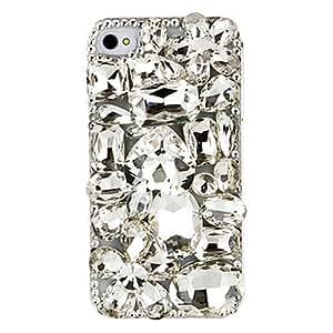 GONGXI- Cristal Transparente Cubierta para iPhone 4/4S