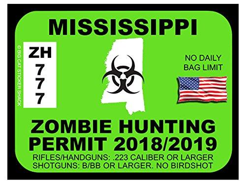 Mississippi Zombie Hunting Permit (Bumper Sticker)