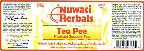 Nuwati Herbals Tea Pee Herbal Tea - Prostate Support, 4 ounces