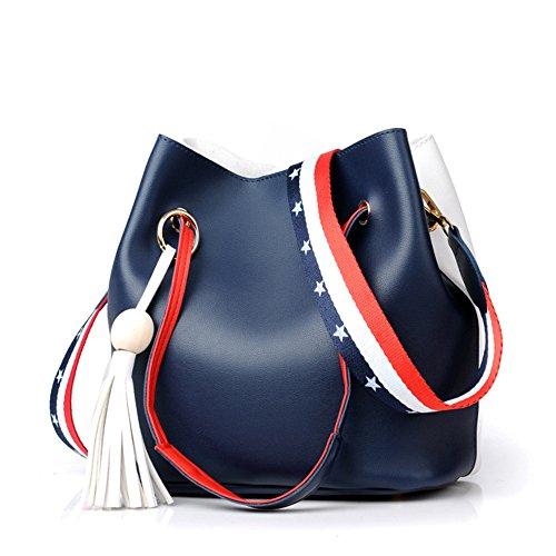 Fashionable Single Bag Bag blue Bucket Bag Bag Shoulder Strap Women'S Shoulder Satchel gqC5wRY