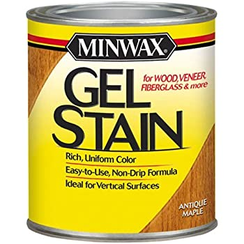 Minwax 260304444 Interior Wood Gel Stain, 1/2 pint, Antique Maple