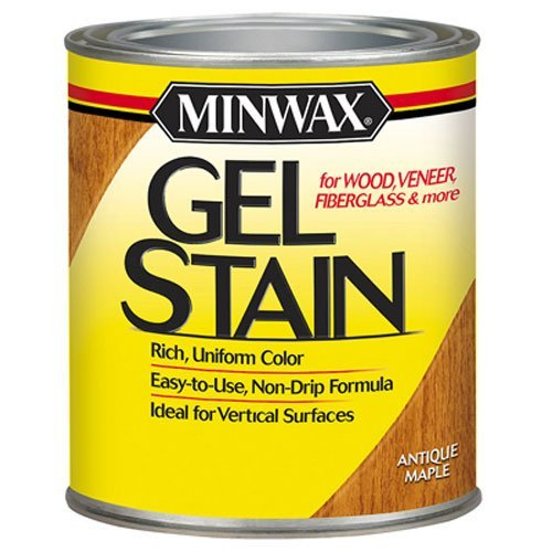 (Minwax 260304444 Interior Wood Gel Stain, 1/2 pint,  Antique Maple)
