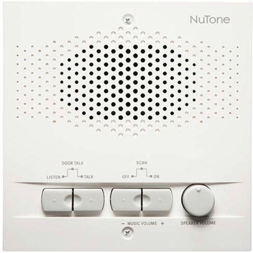 - NuTone NRS104WH Indoor Remote Station for 4-Wire Intercom Systems