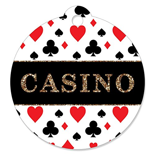 (Las Vegas - Casino Party Favor Gift Tags (Set of)