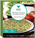 Medi-Weightloss Creamy Garlic & Herb Pasta - Easy to Make - High Protein (20g) - 150 Calories - 7 Meals Per Box / weight loss & hunger control