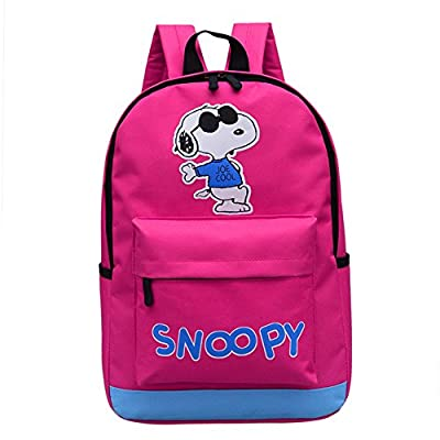 3fd89def8f new YOUNELO Kid s Cute Cartoon Basic Snoopy Canvas School Bag Backpack  Rucksack Bag