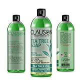 Organic Tea Tree Oil Body Wash - 16oz - an Anti-fungal Body Wash Relieves Athlete's Foot, Jock Itch, Sunburn & Rash Irritation & Blocks Body, Armpit & Smelly Foot Odors