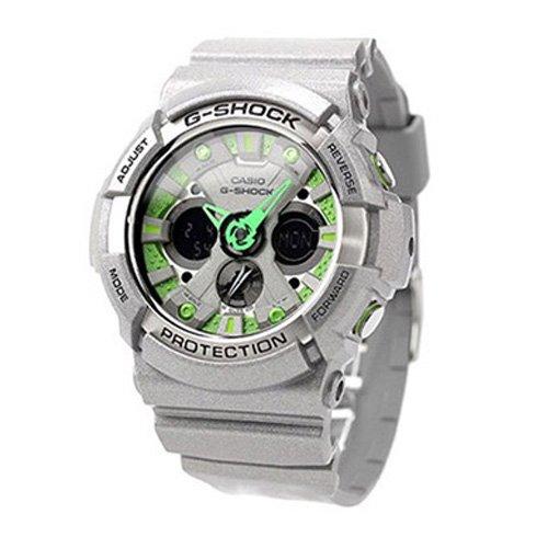 G-Shock Men's GA200SH Metallic Colors Series Quality Watch - Grey/Green Face