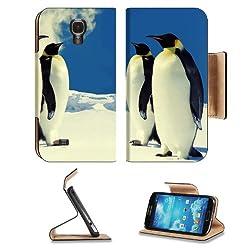 King Emperor Penguin Bird Arctic Samsung Galaxy S4 Flip Cover Case with Card Holder
