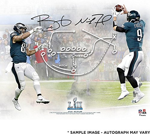"Nick Foles & Trey Burton Philadelphia Eagles Dual-Signed 16"" x 20"" Super Bowl LII Champions Philly Special Photograph - Fanatics Authentic Certified"