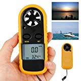 Enshey Wind-Speed Gauges-Anemometer Digital LCD Meter Gauge Air Flow Velocity Measurement Thermometer with Backlight for Windsurfing Kite Flying Sailing Surfing Fishing Etc