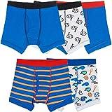 Trimfit Boys 100% Cotton Tagless Baseball Boxer Briefs 5-Pack, L (8-10)
