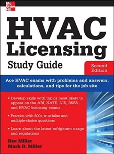 hvac licensing study guide second edition rex miller mark r rh amazon com hvac study guide free hvac study guide pdf