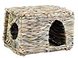 Panda Superstore Natural Outdoor Rabbit Hutch Straw Mattress Hand Made Rectangl Straw House