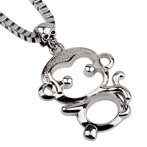 Cartoon Monkey Necklace (Bezel Circle Bracelet)