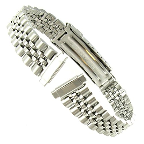 Band 10 Watch Mm (10-14mm T&C Silver Tone Stainless Steel Ladies Deployment Buckle Watch Band)