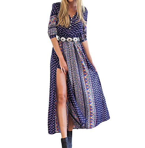 Persun Womens Sleeve Tribal Button