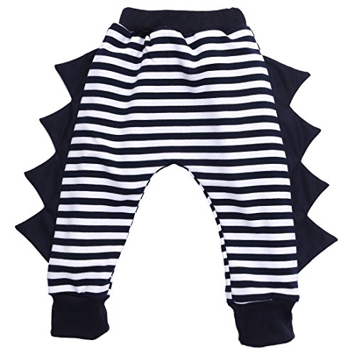 Little Boys Girls Dinosaur Hip Hop Harem Pants 1002 3Y Striped