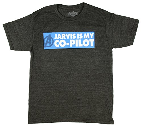 Marvel Comics Avengers Age of Ultron Jarvis Is My Co-Pilot Graphic T-Shirt - Small