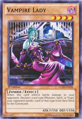 Yu-Gi-Oh! - Vampire Lady (LCJW-EN196) - Legendary Collection 4: Joey's World - 1st Edition - Common]()