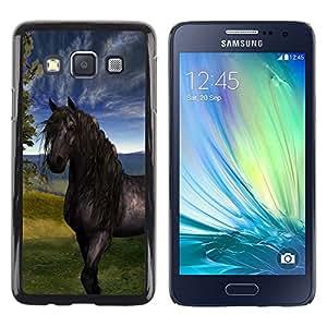 Be Good Phone Accessory // Dura Cáscara cubierta Protectora Caso Carcasa Funda de Protección para Samsung Galaxy A3 SM-A300 // Horse Sky Mustang Stallion Nature Painting