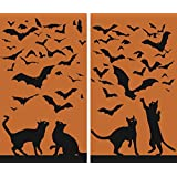 """WOWindow Posters Cats & Bats Halloween Window Decoration Two 34.5""""x60"""" posters"""