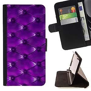 For LG G2 D800 Case , Botón del modelo de cuero púrpura- la tarjeta de Crédito Slots PU Funda de cuero Monedero caso cubierta de piel