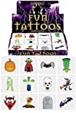 48 x Spooky Halloween Vampire Pumpkin Bats Kids Pretend Transfers Tattoos