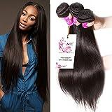 (US) Unice Natural Color Brazilian Straight Virgin Hair Unprocessed Brazilian Human Hair Weave 3 Bundle 300gram (8 10 12inch)