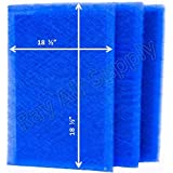 MicroPower Guard Replacement Filter Pads 20x21 Refills (3 Pack) BLUE