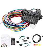 Acouto 12V Automotive Fuse Wire Harness,12V 14 Circuit Fuse Harness Universal Complete Wiring Kit for Muscle Car Hot Rod Street Rat XL