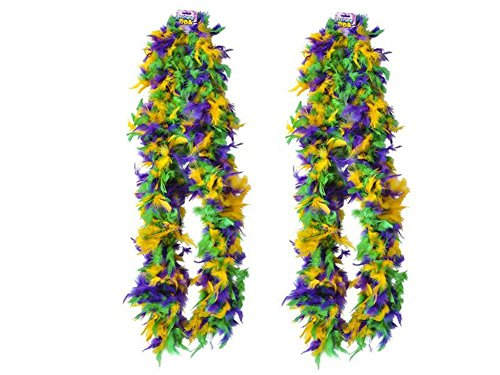 Block Buster Costumes New Deluxe Mardi Gras 72 Accesso Costume Accessory Feather Boa -