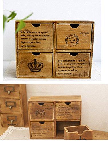 Japanische Schubladenbox, Organizer, aus Holz, für Badezimmer ...