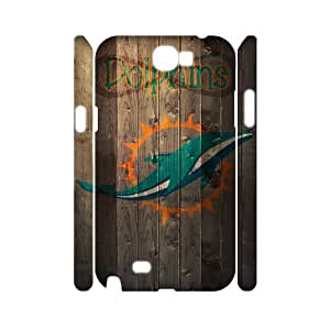 JCCFAN Miami Dolphins Phone 3D Case For Samsung Galaxy Note 2 N7100 [Pattern-2]