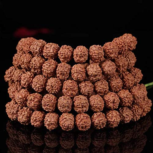 [ABCgems] Nepali Rudraksha Mala Meditation Beads 8mm (108 Beads) for Jewelry Making (No Clasp)