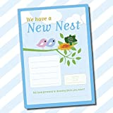 A5 Change of Address Moving House New Home Pads Packs Letters Notes Sheets (New Nest) (Without Envelopes, New Nest)