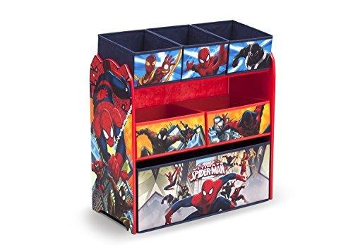 Delta Children Multi-Bin Toy Organizer, Marvel Spider-Man by Delta Children