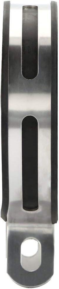 Staffa di supporto anello fisso Sunnyflowk in fibra di carbonio per marmitta moto marmitta Fuga nero