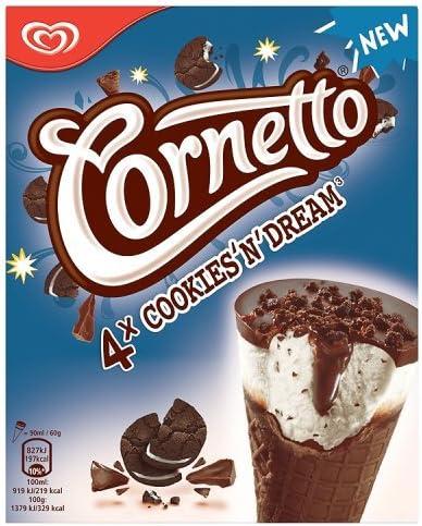 Cornetto Cookie Helado - 4 Helados: Amazon.es: Alimentación y ...