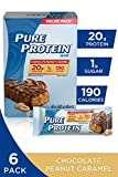 Pure Protein Bars, Gluten Free, Snack Bars, Chocolate Peanut Caramel, 50 gram, 6 Count