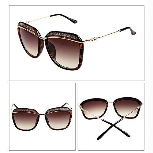 marco femenina de ULTRAVIOLETA B de gafas del Alger cejas de de anti grande de la sol las moda Gafas sol las qfzwpg