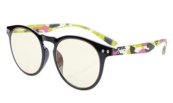 ef24a3f83038 Eyekepper Retro Vintage Flex Lightweight Plastic Round Frame Computer  Glasses Readers Eyeglasses (Black Frame-